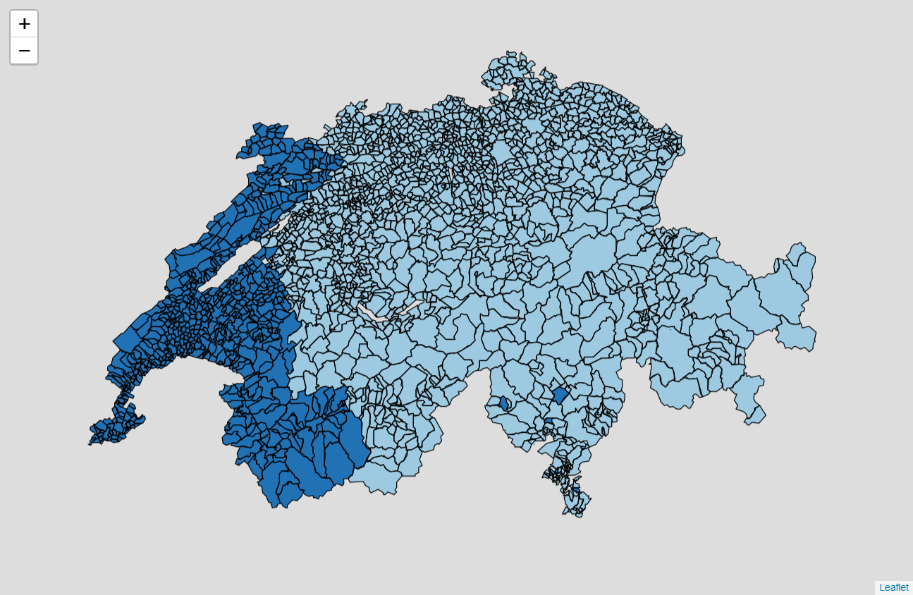 Clustering of municipalities Rstigraben